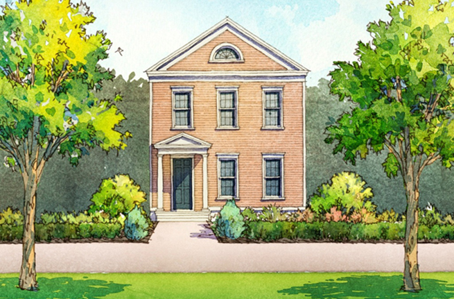 Conifer Plan a Saussy Burbank House Drawing in Summerville, SC