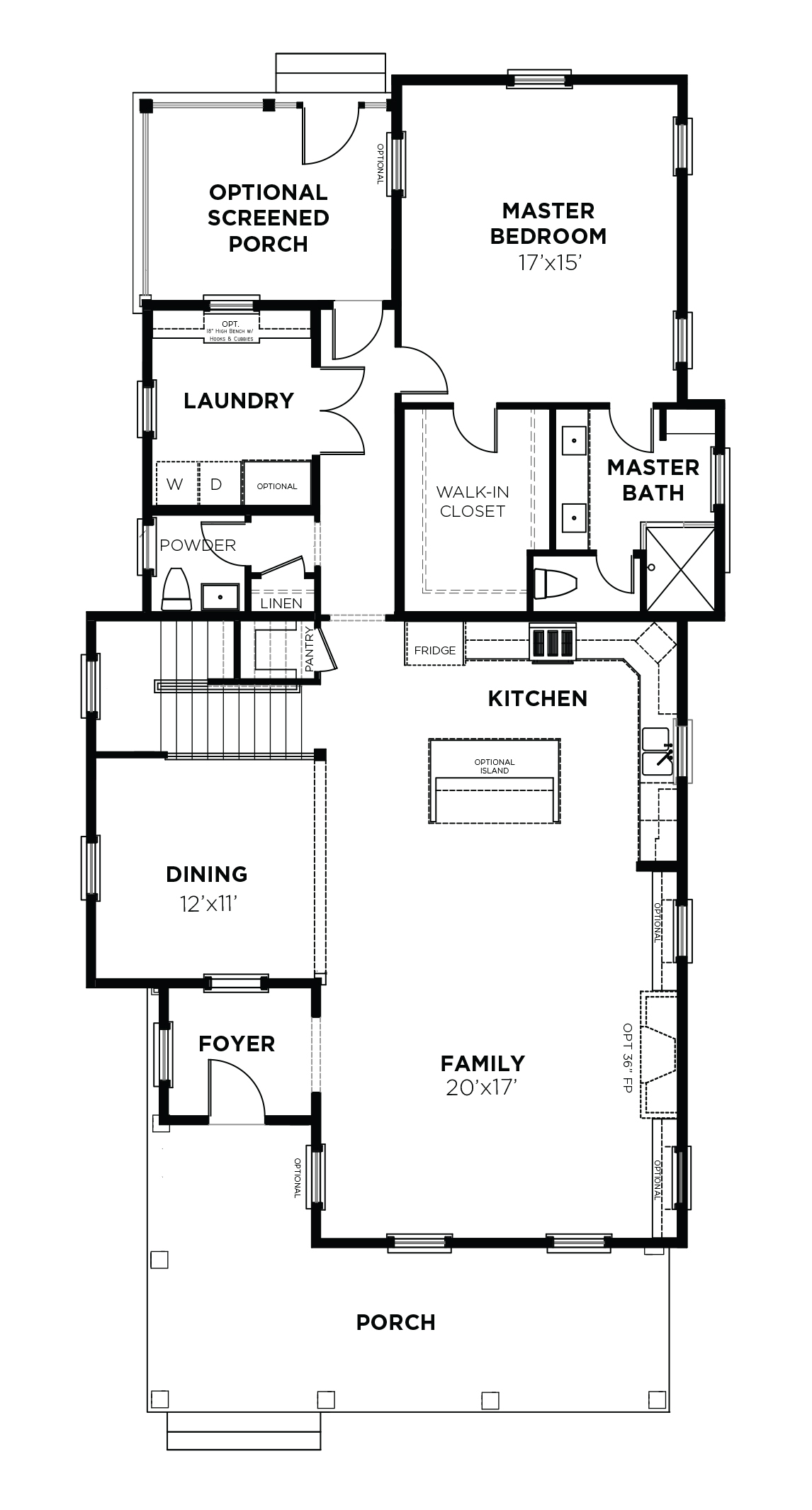 Acorn Plan - a Saussy Burbank First Floor Plan in Summervile, SC