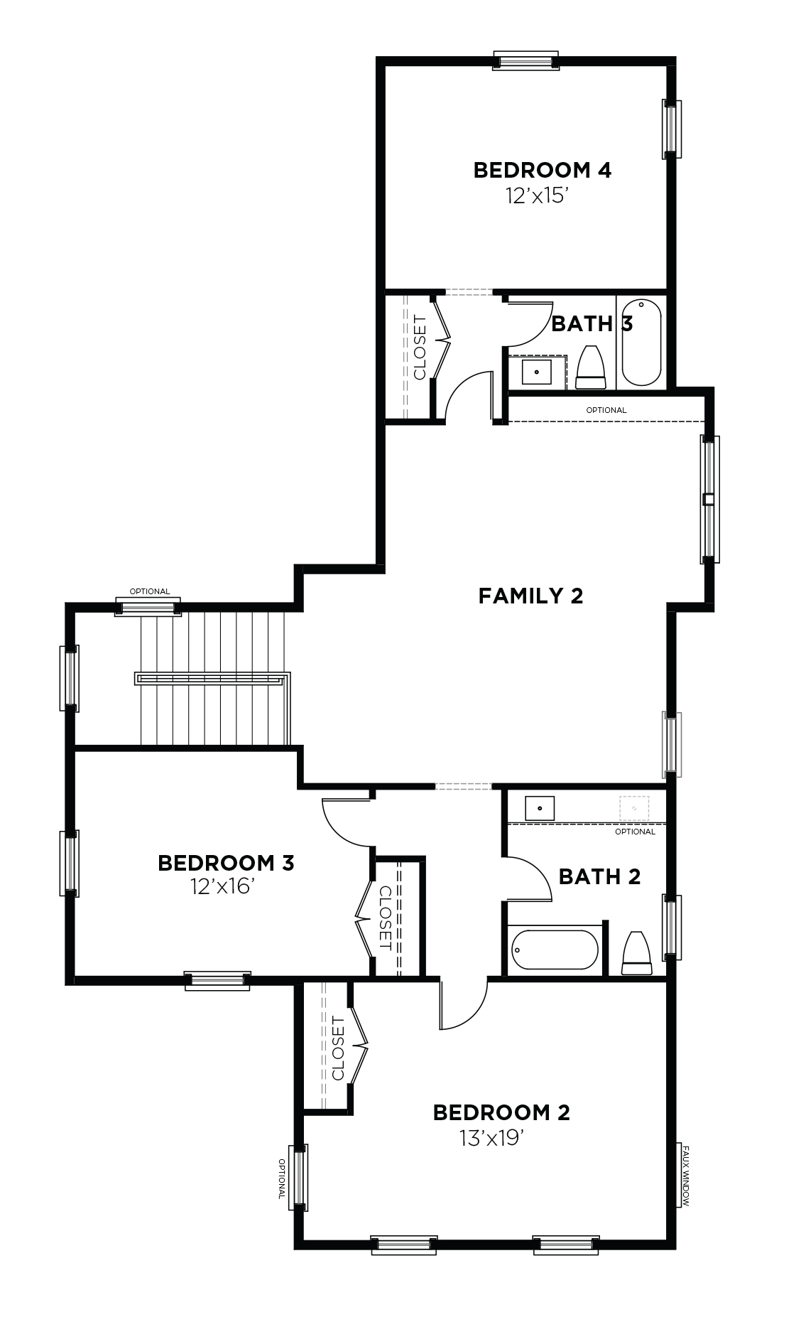 Acorn Plan a Saussy Burbank Second Floor Plan in Summerville, SC